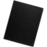 Linen Presentation Covers - Oversize, Black, 200 pack__Linen Black Ovr LF.png